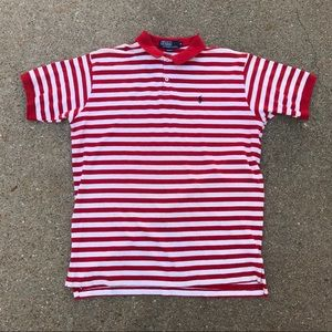Vintage Polo By Ralph Lauren Red Striped Shirt